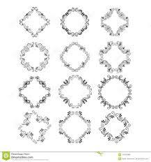 Easy Frame Design Drawing Decorative Floral Frames Stock Vector Illustration Of Hand