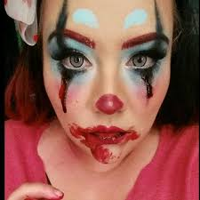 creepy clown makeup video from insram