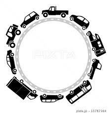 車のサークルモノクロのイラスト素材 13787164 Pixta