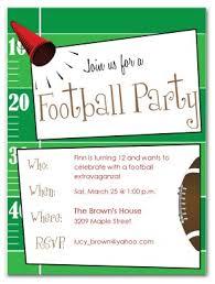 Football Invitation Template Printable Football Birthday Invitation Template