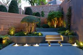 contemporary landscape lighting. garden light design ideas landscape contemporary with outdoor lighting small gardens