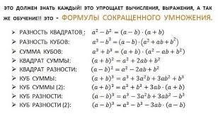 Учебно методический материал по алгебре класс на тему  Контрольная работа на формулы сокращенного умножения 7 класс