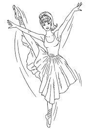 Disegno Di Barbie E Le Scarpette Rosa Da Stampare Ballerina Da