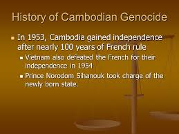 n genocide the khmer rouge regime ppt  history of n genocide
