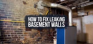 how to stop leaking basement walls