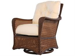 Lloyd Flanders Grand Traverse Wicker Cushion Arm Swivel Rocker Lounge Chair Lloyd Flanders Furniture H75