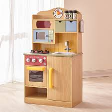 amazoncom teamson kids  little chef wooden toy play kitchen