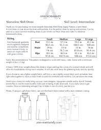Linen Weight Chart Sleeveless Shift Dress Pdf Sewing Pattern Sewing Patterns Ann Normandy Design