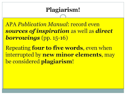 Plagiarism Quoting Citing Sources Apa Format Ppt Download