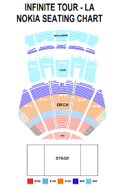 Nokia Live Seating Chart Update Ticket Information For Infinites One Great Step