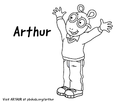 Arthur Print Coloring Pages Pbs Kids Pbs Chronicles Network