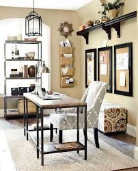 neutral office decor. Home Office With Gray And Neutral Accents Decor