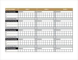 Bowling Chart Template Simple Cricket Score Sheet Cricket Score Cricket Tips