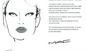 makeup face charts template co chart artist