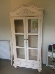 classy pleasant white armoire with glass doors in glass door armoire home glass door armoire