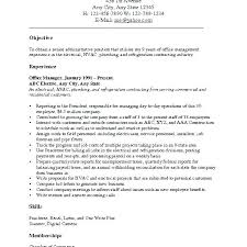 Career Objective On Resume Objectives For Resume Samples Resume Objective Templates Sample 93