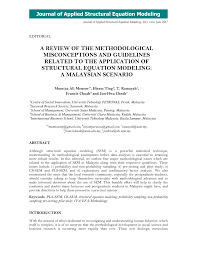 pdf a review of the methodological misconceptions and guidelines to the application of structural equation modeling a msian scenario