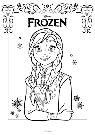 Kleurplaat Disney Frozen Anna Kleurplatennl
