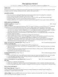 Sample Resume For Human Resources Manager Awesome Hr The Post Of