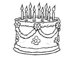 Small Picture Draw Birthday Cake Coloring Pages 77 For Your Coloring for Kids