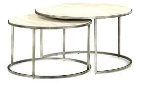 stacking coffee tables table round nesting modern basics by stacked stone