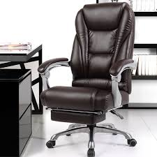 Comfortable office furniture Chairs Luxurious And Comfortable Office Computer Armchair Ergonomic Lying Boss Chair Household Leather Seat Aluminum Foot With Footrest Traficbookinfo Luxurious And Comfortable Office Computer Armchair Ergonomic Lying