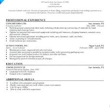 Resume For Construction Worker Construction Worker Resume Resumes For Excavators Construction
