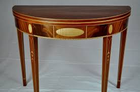 Hand Made Federal Demi Lune Table By K Smith Custom Woodworking