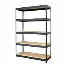 24 inch wide shelving unit pretty iron horse black riveted steel 5 shelf