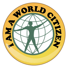 global citizenship  world citizen badge