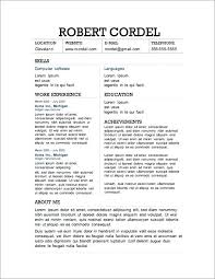 Gmail Resume Gorgeous Gmail Resume Template Two Column Resume Template Gmail Cv Template