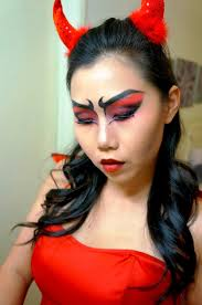 devil face makeup for