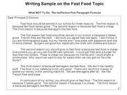 sample practice topic fast food ppt 7 dear