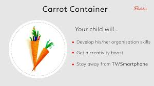 paper craft carrot holder activity to organise stationery