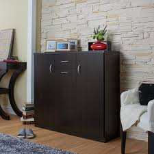 espresso bedroom furniture contemporary. drawer for quick access storage cabinets with 5 shelves each contemporary espresso 10 shelf shoe cabinet mdf metal veneer material bedroom furniture