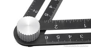 adjule six fold tool ruler drill guide opening hole locator set