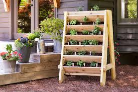 Amazing wooden garden planters ideas try Planter Box Diy Vertical Herb Planter Bonnie Plants How To Build Vertical Herb or Lettuce Planter Bonnie Plants
