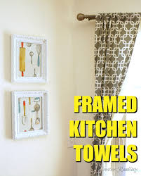 Dress up your kitchen with fun designs from an inexpensive towel. Such an  easy DIY