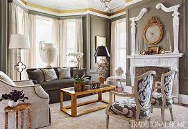 gorgeous gray living room. + ENLARGE. Eric Roth. Gray And Gold Showhouse Living Room. This Sitting Room\u0027s Gorgeous Millwork Inspired Room O