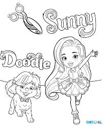 Sunny Day Colora Sunny E Doodle Cartoni Animati детское