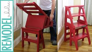 how to build a diy ladder chair space saving multipurpose folding step stool