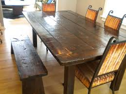 rustic dining table diy. Top 68 Exceptional Rustic Dining Table With Bench Dark Wood Diy 4