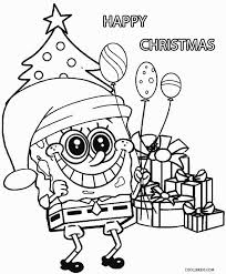 Spongebob And Patrick Christmas Coloring Pages At Getdrawingscom