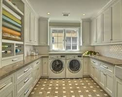 Interior:Modern Small Laundry Room Design With Side By Side Washer Also  Dryer Likeable Laundry