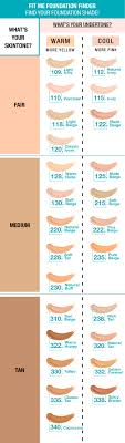 Maybelline Fit Me Foundation Shades Chart Are You Cool Toned Or Warm Toned How To Find Your Perfect