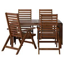 outdoor table and chair sets. IKEA ÄPPLARÖ Table+4 Reclining Chairs, Outdoor Table And Chair Sets A