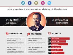Resume Website Templates Web Resume Examples Html Resume Website Template  Design Example Download