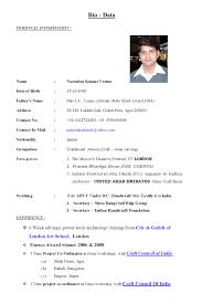 Resume Sample Personal Information Bio Date Form Savebtsaco 8
