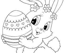 Free Easter Bunny Coloring Pages To Print Printable Colouring Color