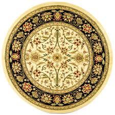 safavieh lyndhurst ivory black 8 ft x 8 ft round area rug